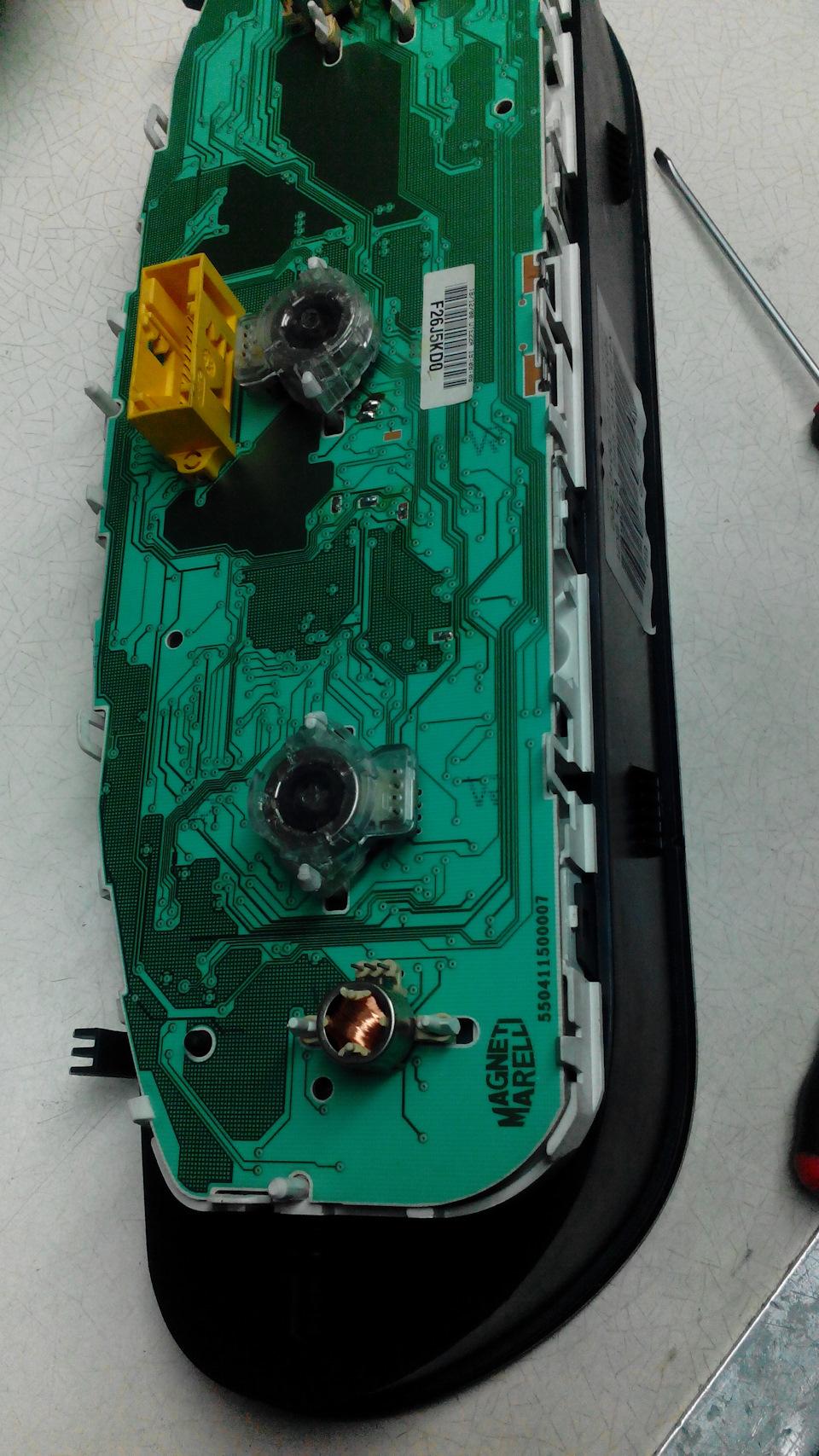 Восстановление моторчика спидометра
