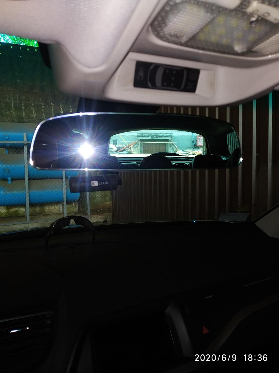 Безрамочное зеркало от Vag в Ситроен с3.
